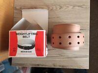 Weight lifting support belt