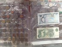 Large coin and note collection