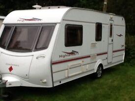 Coachman highlander 520/4 2005 4 berth caravan + awning
