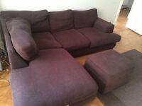 Large Brown Corner Sofa with Storage---Perfect for Big Lounge