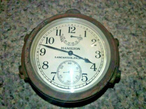 WWII US Navy Hamilton Chronometer 1943 marked Bureau of Ships US Navy with case