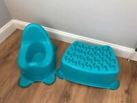 Child's potty and step