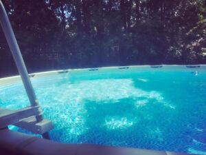 Intex 16 foot pool with solar heating system
