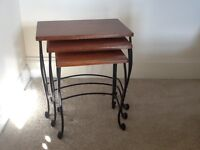 Nest of 3 small coffee tables, very good condition