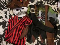 KIDS SKELETON PIRATE FANCY DRESS OUTFIT AGE 11/12 YEARS GREAT FOR PARTY