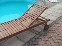 Sunbed hardwood