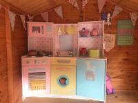 Large wooden toy play kitchen kidkraft