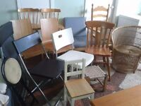 Chairs, stools, kids seats Bargain!