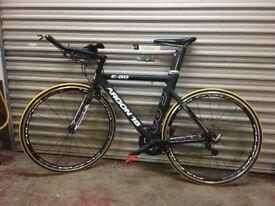 Argon 18E80 aluminum time trial/triathlon bike with carbon fibre forks