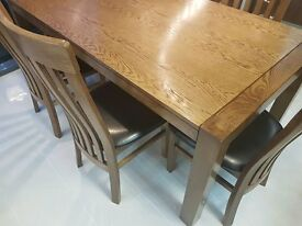 Very high quality Solid Oak Dining Table Chairs availalble New