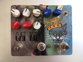 Fuzzrocious Cat King dual distorion pedal w/ momentary feedback mod