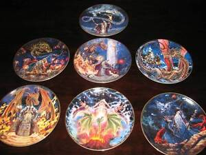 7 x ROYAL DOULTON Limited Edition Wizard plates Conder Tuggeranong Preview
