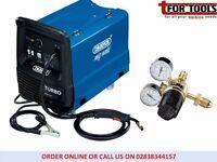 Draper 180A MIG Welder Gas/Gasless + 2 Gauge Gas Bottle Regulator