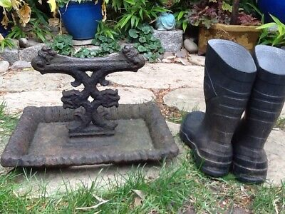 Unusually Large, Very Heavy Vict.Cast Iron Foot Scraper.