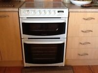 Cannon gas cooker white 60 cm slot in double oven 4 rings