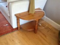 Lamp tables ,pair of, solid pine