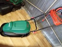 Qualcast Electric lawn mower for sale, in v good condition, used only twice,£45
