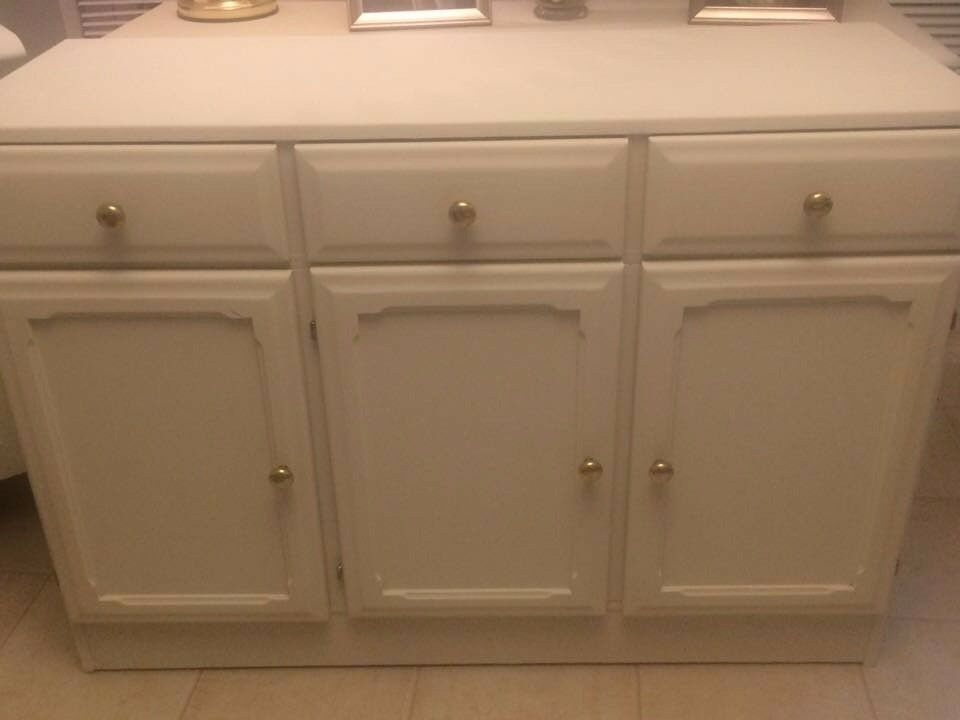 lovely sideboard freshly painted old white