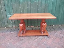 CARVED ELEPHANT COFFEE TABLE