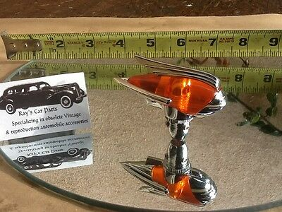 NEW AMBER COLORED ART DECO  ANTENNA TOPPER ACCESSORY ! for sale  West Covina