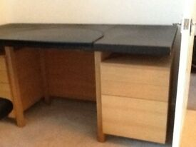 Habitat solid oak desk