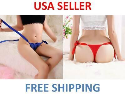 Women's Sexy Lace Thongs G-string Panties Knickers Lingerie Underwear Side Tie