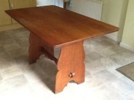 Table and chairs. Antique oak dining table,(will dismantle)£50. 2 oak chairs, £10 each.