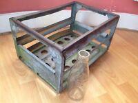 Vintage metal beer crate,murphy & sons ballymena.