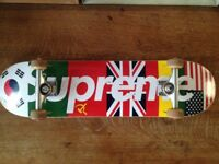 Supreme AW13 Flags Skateboard * COMPLETE DECK *RARE*