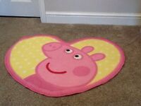 A selection of Peppa Pig bedroom accessories.