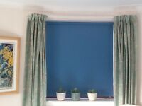 3 pairs of 100% cotton, long length, fully lined curtains.