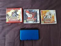 Nintendo 3DS XL + 3 Pokemon games *barely used* *Mint*