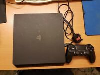 Ps4 slim fully working good condition with controller quiet fan