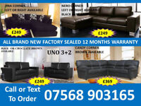 BEST OFFER BRAND NEW SOFA LEATHER RECLINER FAST HOME DELIVERY