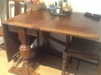 Dining Table Oak Veneer Vintage circa 1940s