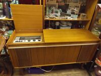 Vintage retro 1960s Alba stereogram, full working radio and record player.