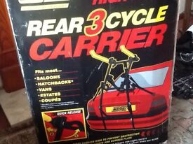 Bicycle carrier for car.
