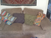 two seater sofa bed and macthing chair