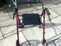 mobility walker rollator walking aid with 4 wheels and seat