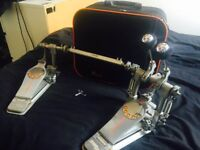 Pearl Demon Drive double pedals with carry bag - £280