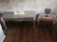 Shabby chic coffee table and matching side table