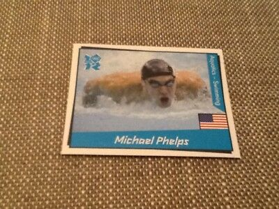 #29 Michael Phelps swimming USA / Panini London 2012 Olympics sticker