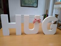 Hug Free or Wall Hanging Letters.