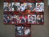 Vampires Knight manga 7-12 + fanbook