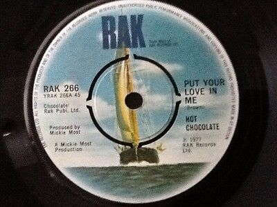 HOT CHOCOLATE . PUT YOUR LOVE IN ME  . 1977