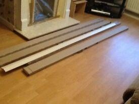 Brand new white skirting boards