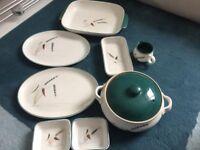 vintage crockery set - Denby, Greenwheat
