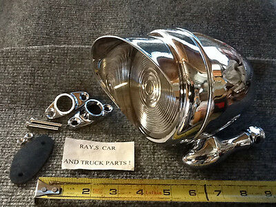 NEW SINGLE CHROME METAL VINTAGE STYLE DUMMY SPOT LIGHT WITH VISOR .