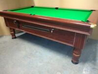 Slate Bed Ex Pub Coin Op Pool Table - Brand New Recover & Accessories - Delivery Available
