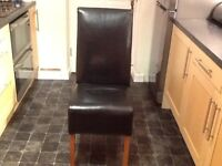 Leather Coated Dining Room Chairs